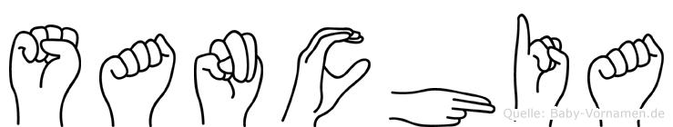 Sanchia im Fingeralphabet der Deutschen Gebärdensprache
