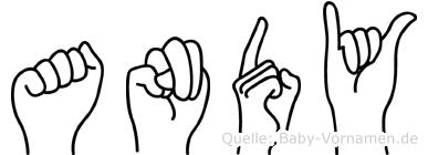 Andy in Fingersprache für Gehörlose