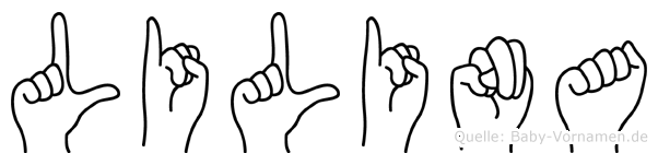Lilina in Fingersprache für Gehörlose
