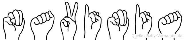 Navinia in Fingersprache für Gehörlose
