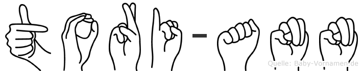 Tori-Ann im Fingeralphabet der Deutschen Gebärdensprache