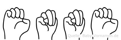 Enne im Fingeralphabet der Deutschen Gebärdensprache