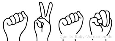 Avan in Fingersprache für Gehörlose
