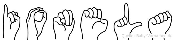 Ionela in Fingersprache für Gehörlose