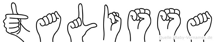 Talissa in Fingersprache für Gehörlose