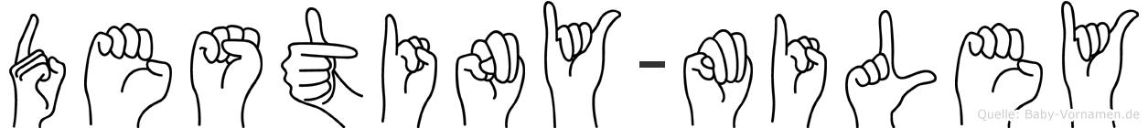 Destiny-Miley im Fingeralphabet der Deutschen Gebärdensprache