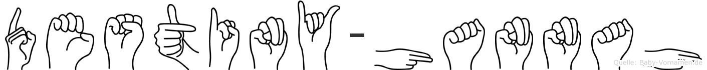 Destiny-Hannah im Fingeralphabet der Deutschen Gebärdensprache