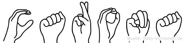 Carona in Fingersprache für Gehörlose