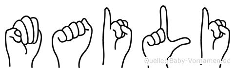 Maili in Fingersprache für Gehörlose
