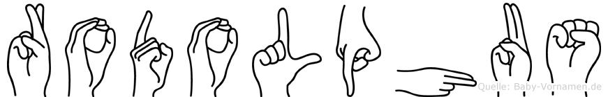Rodolphus im Fingeralphabet der Deutschen Gebärdensprache