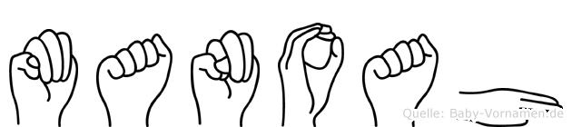 Manoah im Fingeralphabet der Deutschen Gebärdensprache