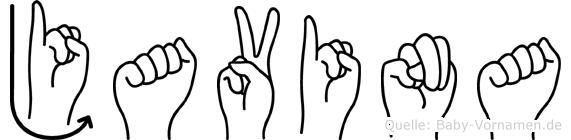 Javina im Fingeralphabet der Deutschen Gebärdensprache