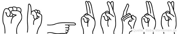 Sigurdur in Fingersprache für Gehörlose