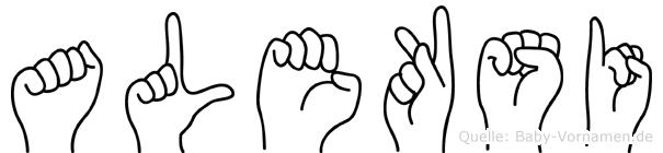 Aleksi im Fingeralphabet der Deutschen Gebärdensprache