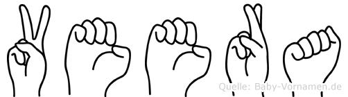 Veera in Fingersprache für Gehörlose