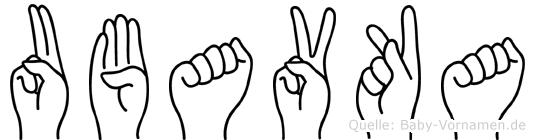Ubavka in Fingersprache für Gehörlose