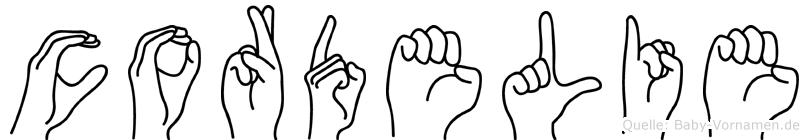 Cordelie in Fingersprache für Gehörlose