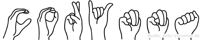 Corynna in Fingersprache für Gehörlose