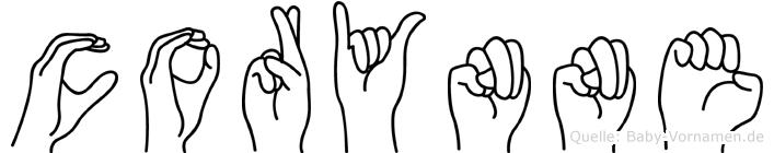 Corynne in Fingersprache für Gehörlose