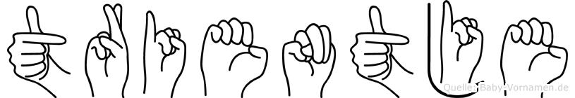 Trientje in Fingersprache für Gehörlose