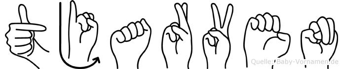 Tjarven in Fingersprache für Gehörlose