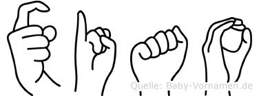 Xiao in Fingersprache für Gehörlose