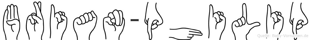 Brian-Philip im Fingeralphabet der Deutschen Gebärdensprache