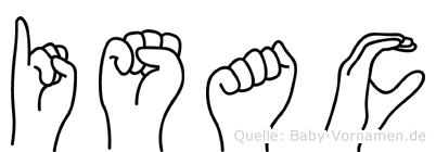 Isac im Fingeralphabet der Deutschen Gebärdensprache