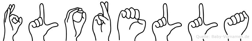 Florella im Fingeralphabet der Deutschen Gebärdensprache