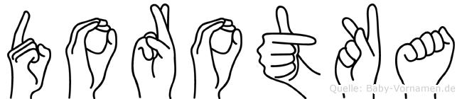 Dorotka im Fingeralphabet der Deutschen Gebärdensprache