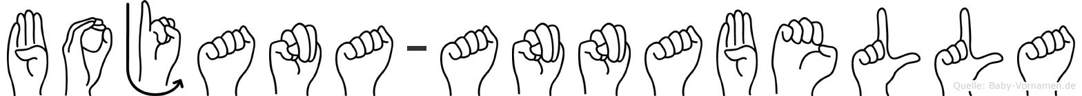 Bojana-Annabella im Fingeralphabet der Deutschen Gebärdensprache