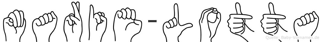 Marie-Lotta im Fingeralphabet der Deutschen Gebärdensprache