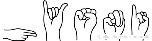 Hysni in Fingersprache für Gehörlose