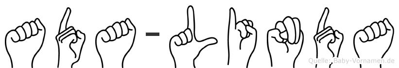 Ada-Linda im Fingeralphabet der Deutschen Gebärdensprache