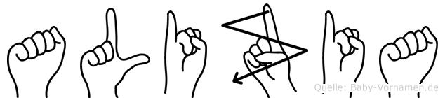 Alizia in Fingersprache für Gehörlose