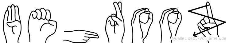 Behrooz in Fingersprache für Gehörlose
