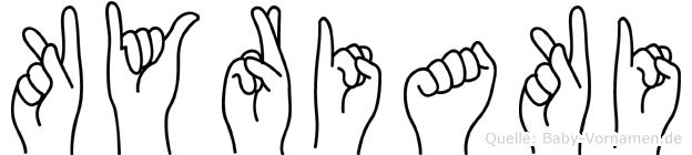 Kyriaki im Fingeralphabet der Deutschen Gebärdensprache
