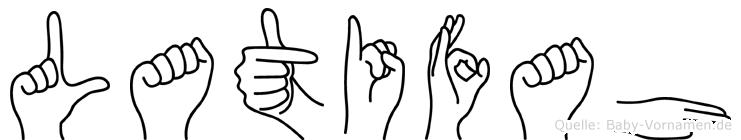 Latifah im Fingeralphabet der Deutschen Gebärdensprache