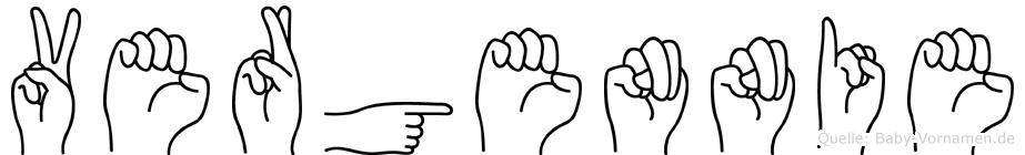 Vergennie in Fingersprache für Gehörlose