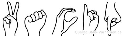 Vacip in Fingersprache für Gehörlose