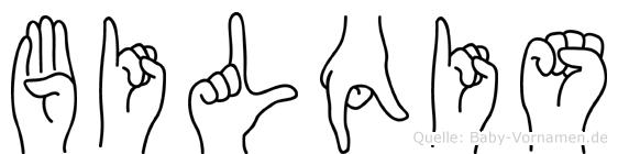 Bilqis im Fingeralphabet der Deutschen Gebärdensprache