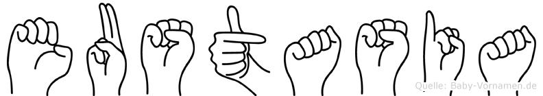 Eustasia in Fingersprache für Gehörlose