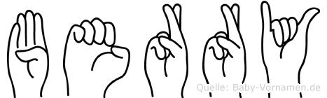 Berry in Fingersprache für Gehörlose