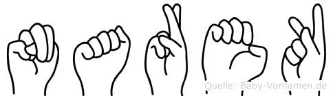 Narek im Fingeralphabet der Deutschen Gebärdensprache