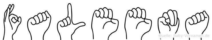 Faleena in Fingersprache für Gehörlose