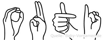 Outi in Fingersprache für Gehörlose