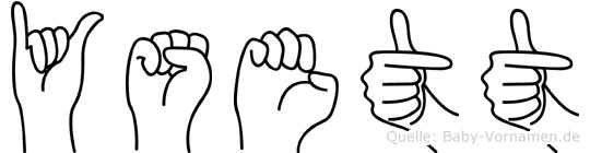 Ysett in Fingersprache für Gehörlose