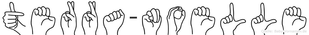 Terra-Noelle im Fingeralphabet der Deutschen Gebärdensprache