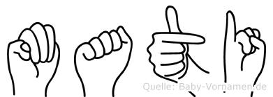 Mati in Fingersprache für Gehörlose