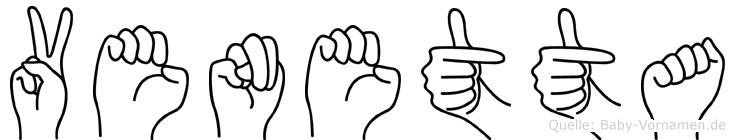 Venetta im Fingeralphabet der Deutschen Gebärdensprache